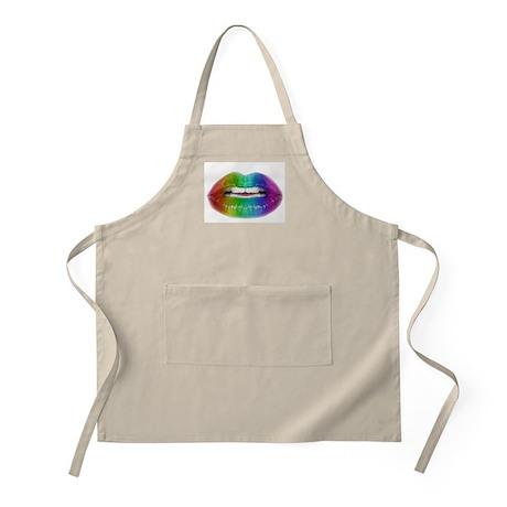 rainbow lips BBQ Apron