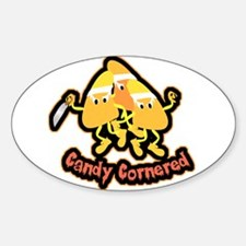 Candy Cornered Oval Decal