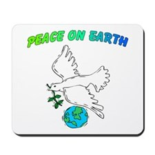 Peace On Earth With Dove Mousepad