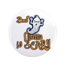 "Obama is Scary, Halloween 3.5"" Button"