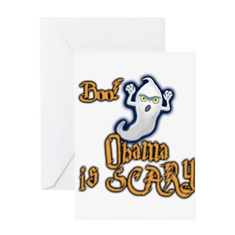 Obama is Scary, Halloween Greeting Card
