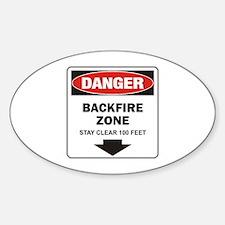 Danger Backfire Oval Decal