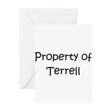 Unique Terrell name Greeting Card