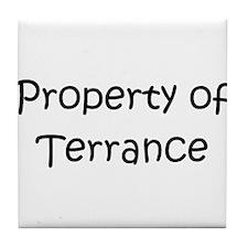 Cute Terrance name Tile Coaster