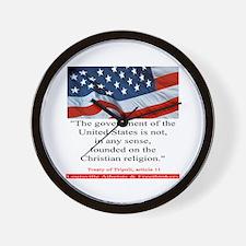 Not A Christian Nation Wall Clock