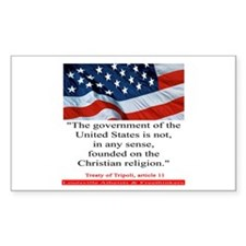Not A Christian Nation Rectangle Decal