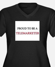 Proud to be a Telemarketer Women's Plus Size V-Nec