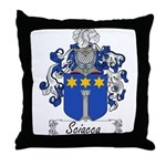 Sciacca Family Crest Throw Pillow