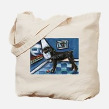 Giant Blk Schnauzer cs moon Tote Bag