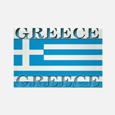 Greece Greek Flag Rectangle Magnet