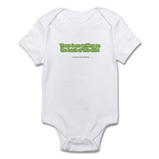 There's No Writing on Back Infant Bodysuit