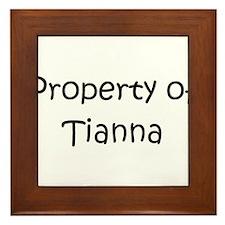 Unique Tianna Framed Tile