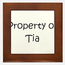 Funny Name tia Framed Tile