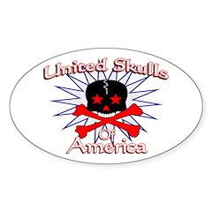 United Skulls Oval Sticker (10 pk)