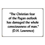 DH Lawrence Pagan Quote Banner