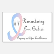 Remembering Our Babies Rectangle Decal