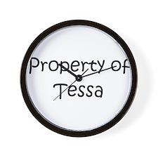 Funny Tessa Wall Clock