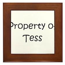 Cute Tess Framed Tile