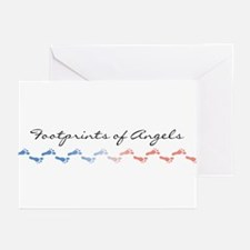 Footprints of Angels Greeting Cards (Pk of 10)