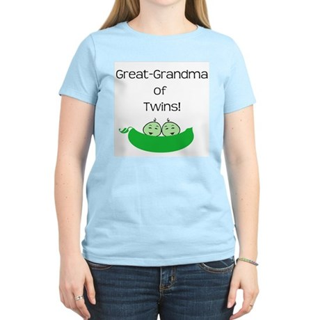 Great Grandma of twins Women's Light T-Shirt