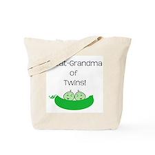 Great Grandma of twins Tote Bag