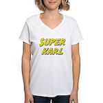 Super karl Women's V-Neck T-Shirt