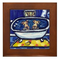 IRISH TERRIER bath Framed Tile