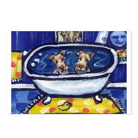 IRISH TERRIER bath Postcards (Package of 8)