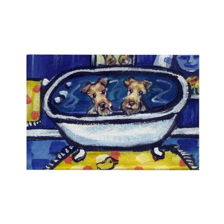 IRISH TERRIER bath Rectangle Magnet