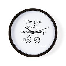 Super Nanny of b/g Twins Wall Clock