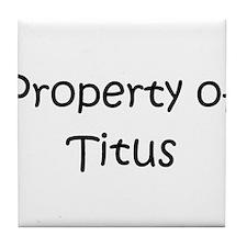 Funny Titus Tile Coaster