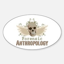 Forensic Anthropology Oval Decal