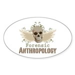 Forensic Anthropology Oval Sticker (50 pk)