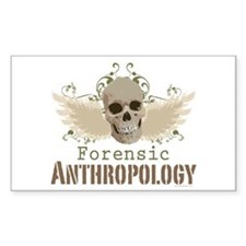 Forensic Anthropology Rectangle Decal