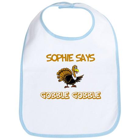 Sophie Says Gobble Gobble Bib