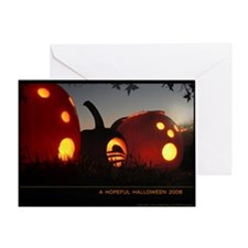 Obama Halloween Hope Pumpkin Greeting Card