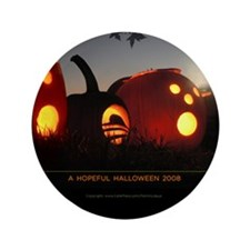 "Obama Halloween Hope Pumpkin 3.5"" Button (100"