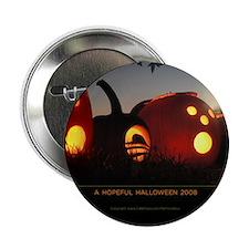 "Obama Halloween Hope Pumpkin 2.25"" Button"