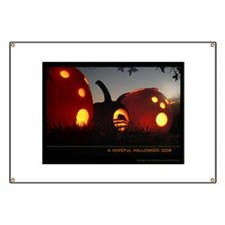 Obama Halloween Hope Pumpkin Banner