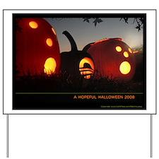 Obama Halloween Hope Pumpkin Yard Sign