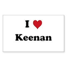 I love Keenan Rectangle Decal