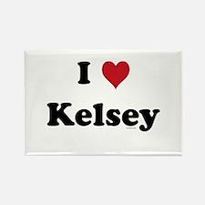I love Kelsey Rectangle Magnet