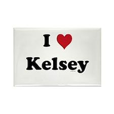 I love Kelsey Rectangle Magnet (10 pack)
