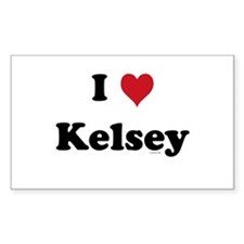 I love Kelsey Rectangle Decal