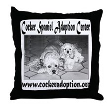 Cocker Spaniel Adoption Center Throw Pillow