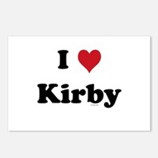 I love Kirby Postcards (Package of 8)