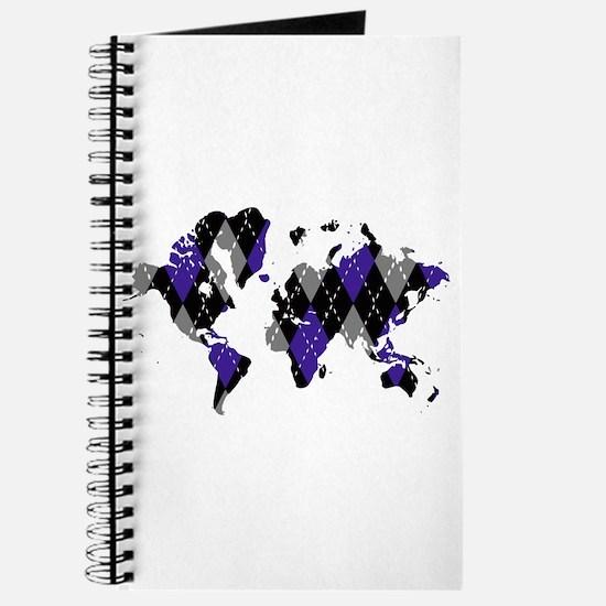 Argyle World Map Journal