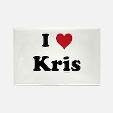 I love Kris Rectangle Magnet