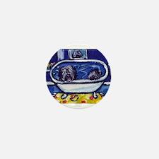 TIBETAN TERRIER bath Mini Button