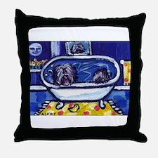 TIBETAN TERRIER bath Throw Pillow